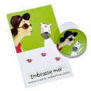 "Badge & carte message ""Embrasse-moi"""