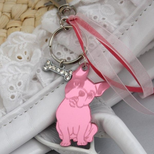 "Pink ""Sucette"" keychain"