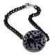 Bracelet médaillon acrylique