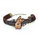 Bracelet vintage bouledogue fermoir